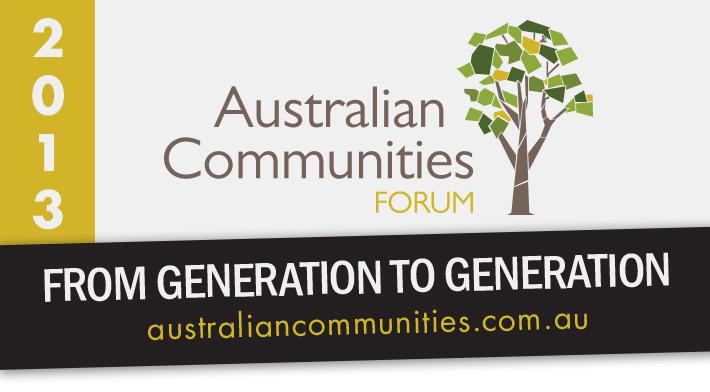 2013 Australian Communities Forum